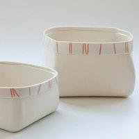 Tijela Fruteira em Ceramica Branca