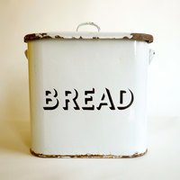 Lata de Pão Francesa Vintage