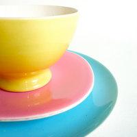 Ceramica Francesa Colorida - 6 Peças