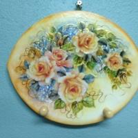 Plaquinha Decorativa Rosas