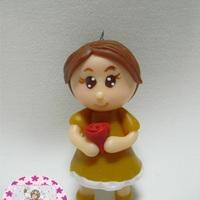 Chaveiro Princesas em biscuit