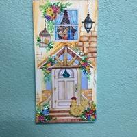 Plaquinha Decorativa Flores e Galinha Caipira
