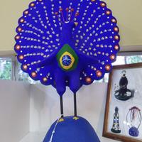 Pavão Azul Brasil Médio