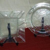 Conjunto bandejas transparentes