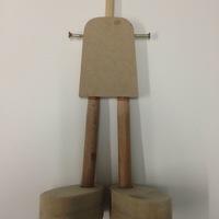Base para Boneca de Madeira Pequeno (15cm)