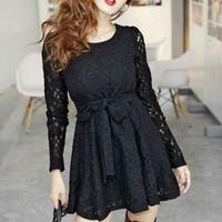 Vestido rendado luxo