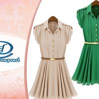 Vestido de Chiffom Modelo Europeu Importado