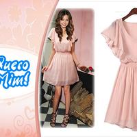 Vestido Delicado de Chiffon Rosa