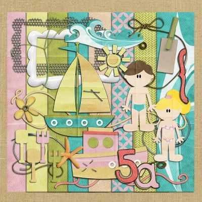 Kit para scrapbook digital 040 praia mlb o 2684177361 052012