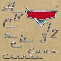 Alfabeto E Números Scrapbook Digital #019 Filme Carros