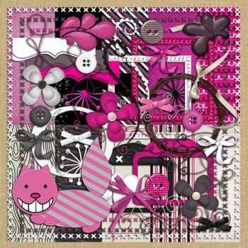 Kit scrapbook digital 192 o gato col alice in wonderland mlb o 3639341880 012013