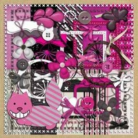 Kit Scrapbook Digital #192 O Gato Col. Alice In Wonderland
