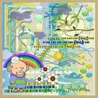 Kit Para Scrapbook Digital #162 (arca De Noé)