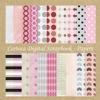 20 Papéis Digitais Para Scrapbook Digital #004
