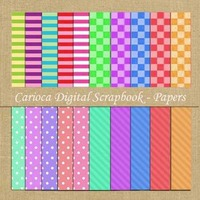 20 Papéis Digitais Para Scrapbook Digital #001