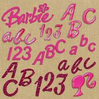 Alfabeto E Números Scrapbook Digital #020 Barbie