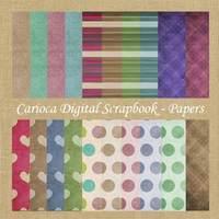 20 Papéis Digitais Para Scrapbook Digital #005