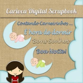 Kit para scrapbook digital 224 good night mlb o 3953268292 032013