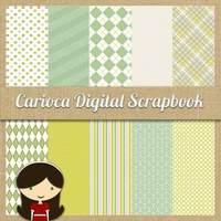 Papéis Digitais Para Scrapbook Digital #040 Lima