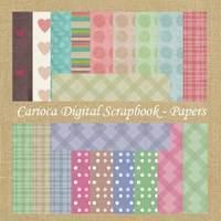 20 Papéis Digitais Para Scrapbook Digital #006