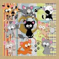 Kit Para Scrapbook Digital #047 (gatinhos)
