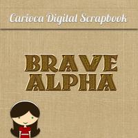 Alfabeto para Scrapbook 29 Valente (Brave)