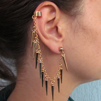 Ear Cuff Corrente e Spikes