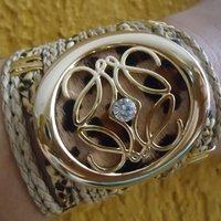 Bracelete Oncinha largo