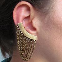 Ear Cuff Fashion Ouro Velho