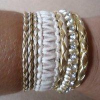 Bracelete Mesclado em tons de bege