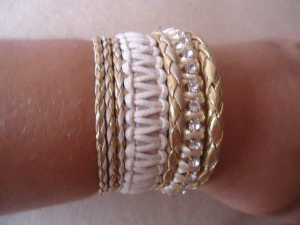 Bracelete mesclado em tons de bege 1371901495520 big