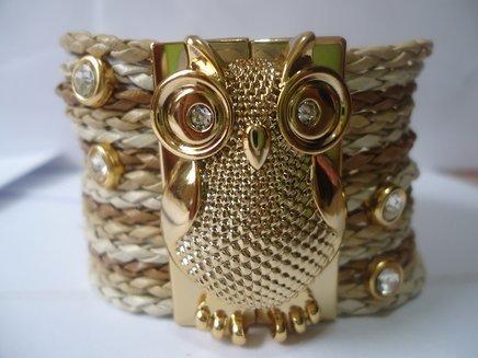 Bracelete coruja em tons de bege 1371033975053 big