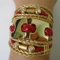Bracelete Riqueza Bordô