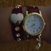 Relógio personalizado de duas voltas