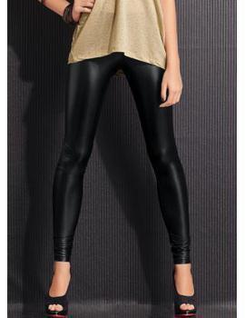 Calca preta brilhante modelo skinny 7