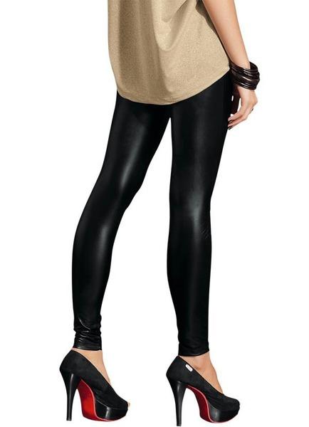 Calca legging feminina cirre brilhante dourada ou preta mlb f 3921070014 032013