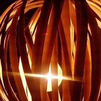 Luminária de vime