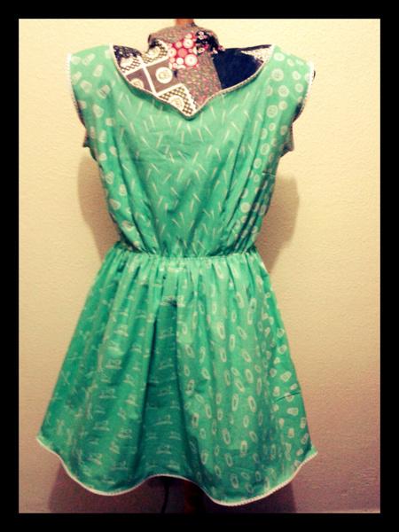 Vestido verde editado