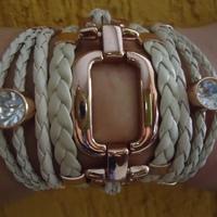 Bracelete Marfim em metal rosé gold