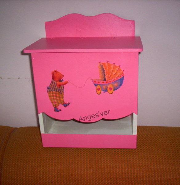 029porta fralda rosa