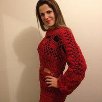 Vestido de crochê Camila