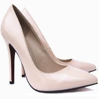 Sapato Scarpin Bico Fino Nude