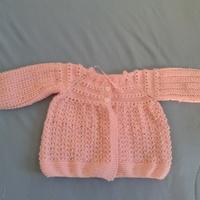 Casaquinho de bebê ROSA 2