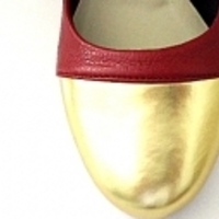 Vermelho com ponta metalizada ouro