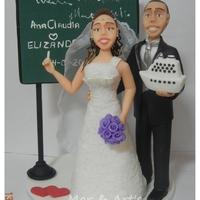 Casal Noiva Professora