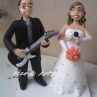 Casal Noivo Guitarrista e Noiva Cantora