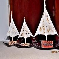 Trio de barquinhos decorativos