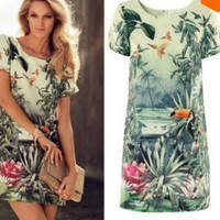 Vestido Floresta Tropical