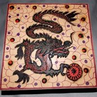 caixa mdf Dragão