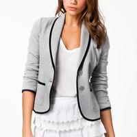 Jaqueta curta cinza